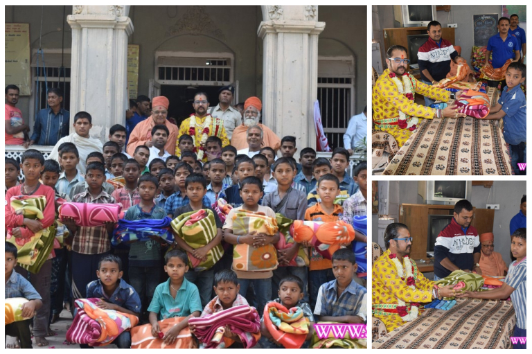 LNDYM – Bharuch Mandal dwara Balko ne Garam Dhabla Vitran