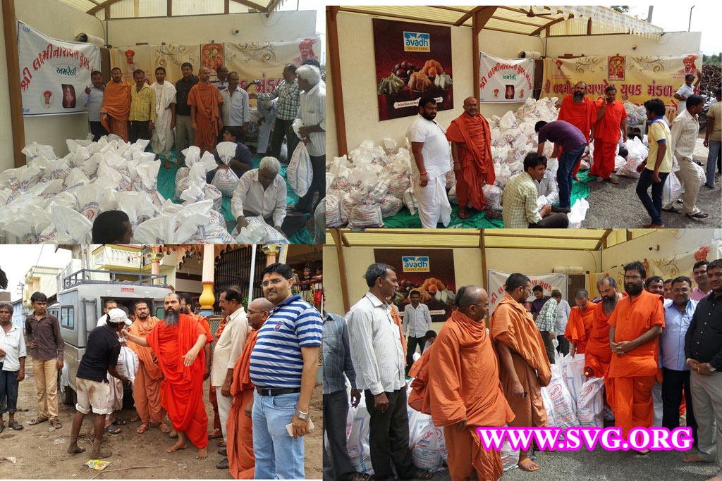 Swaminarayan Amreli Flood Relief - June 2015