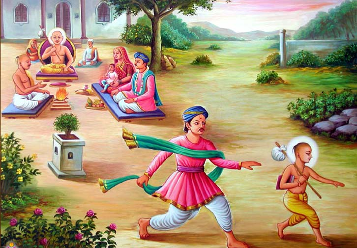 swaminarayan, swaminarayan Vadta Gadi, Swaminarayan Katha – ઘનશ્યામને જનોઈ આપી