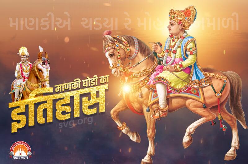 swaminarayan, swaminarayan Vadta Gadi, History of Manki Ghodi – (માણકી ઘોડીનો ઇતિહાસ)