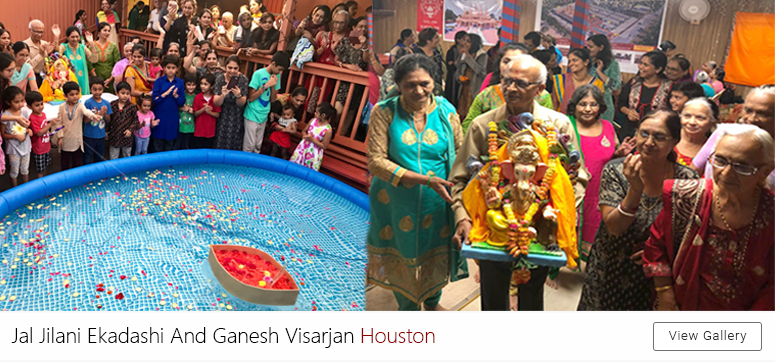 Jal jilani ekadashi and Ganesh Visarjan Houston