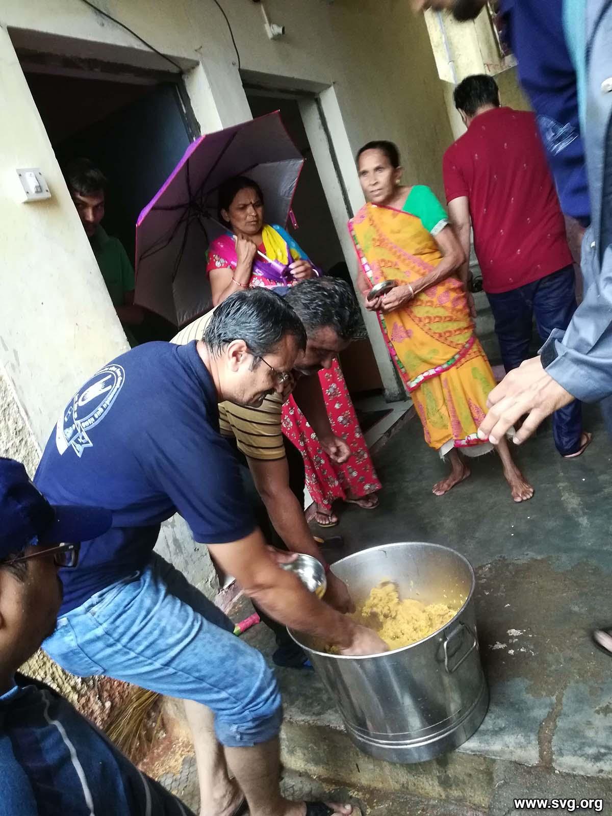 Seva : Food Distribution to Gaukhana Village by Makarpura Mandir, Vadodara | 05 Aug 2019 & 06 Aug 2019