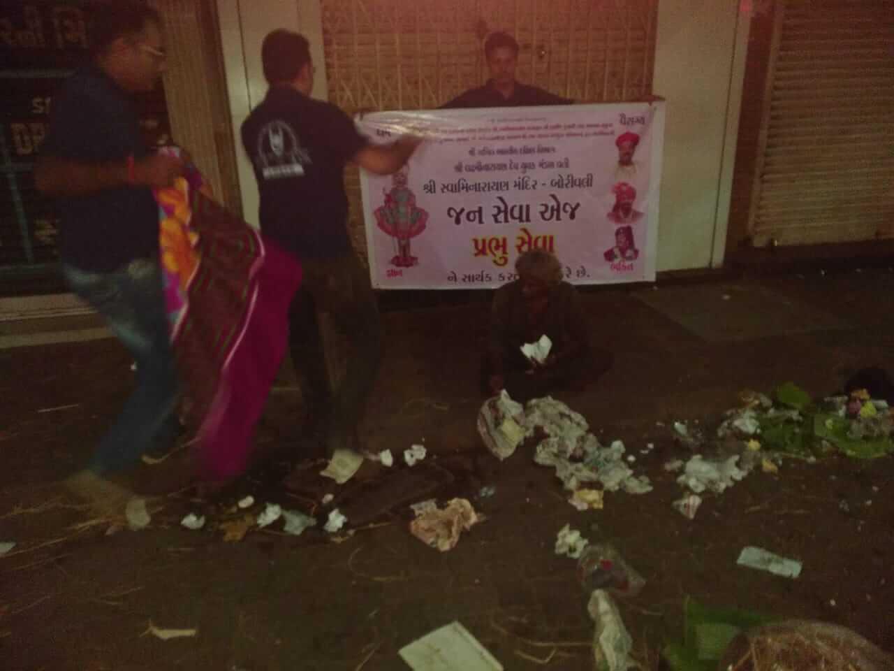 Seva : Distribution of blankets, Shri Lakshminarayan Dev Yuvaak Mandal, Borivali   18th Dec 2019