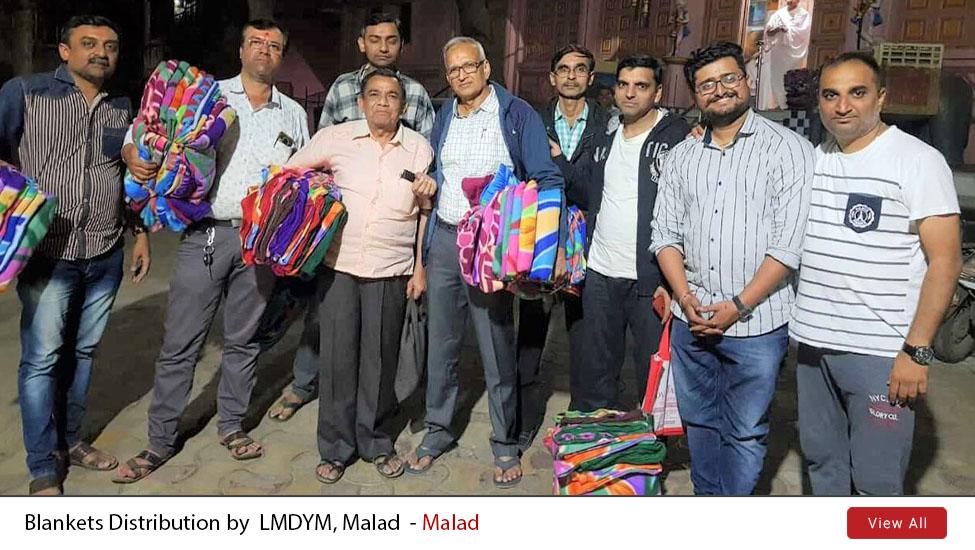 Malad : Blankets Distribution by  LNDYM | 19th Jan 2020
