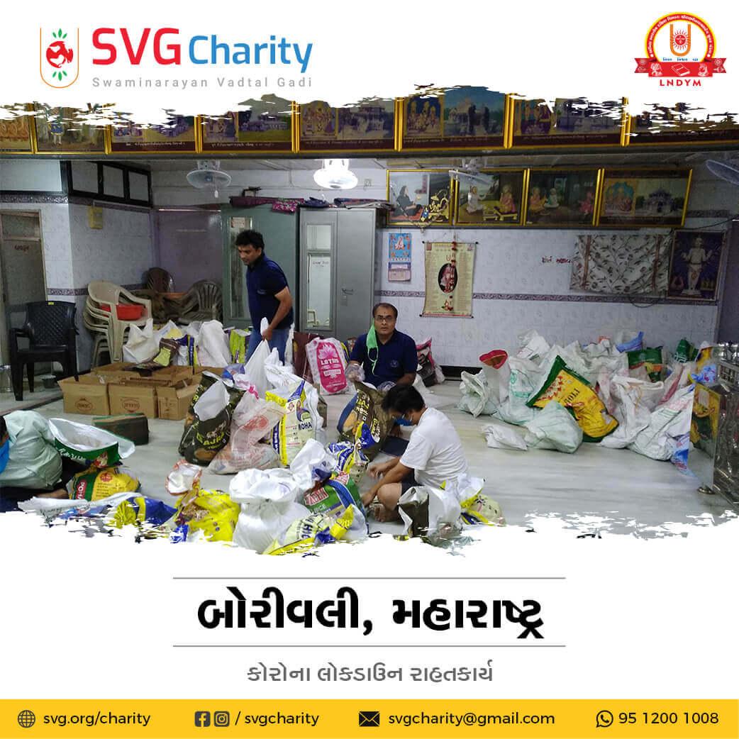 SVG Charity : Corona (COVID-19) Relief Work By Borivali, Mumbai