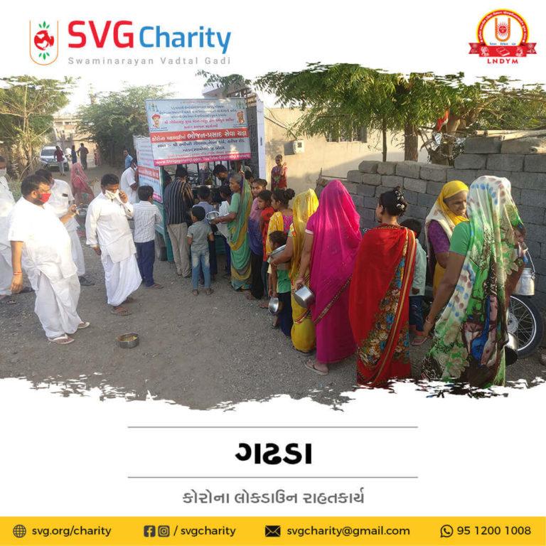 SVG Charity Corona COVID 19 Relief Work By Gadhpur