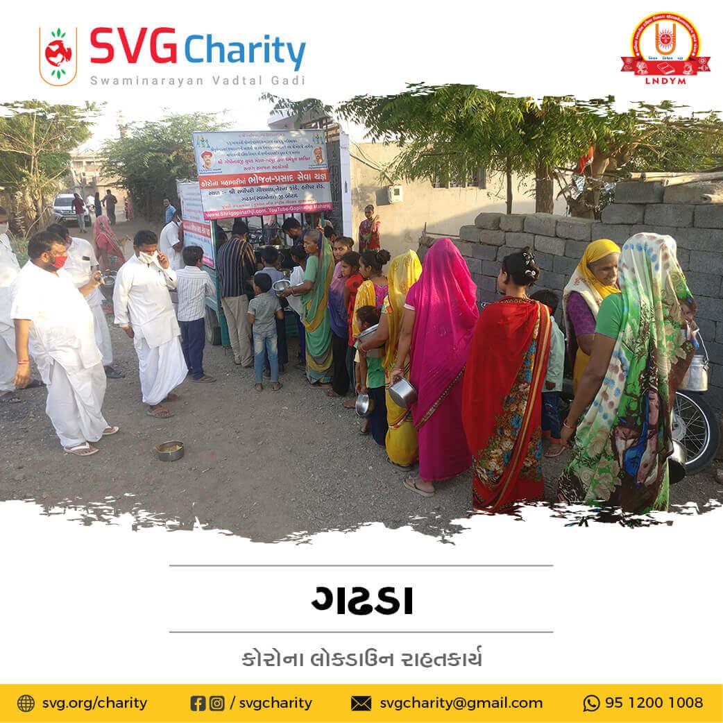 SVG Charity : Corona (COVID-19) Relief Work By Gadhpur