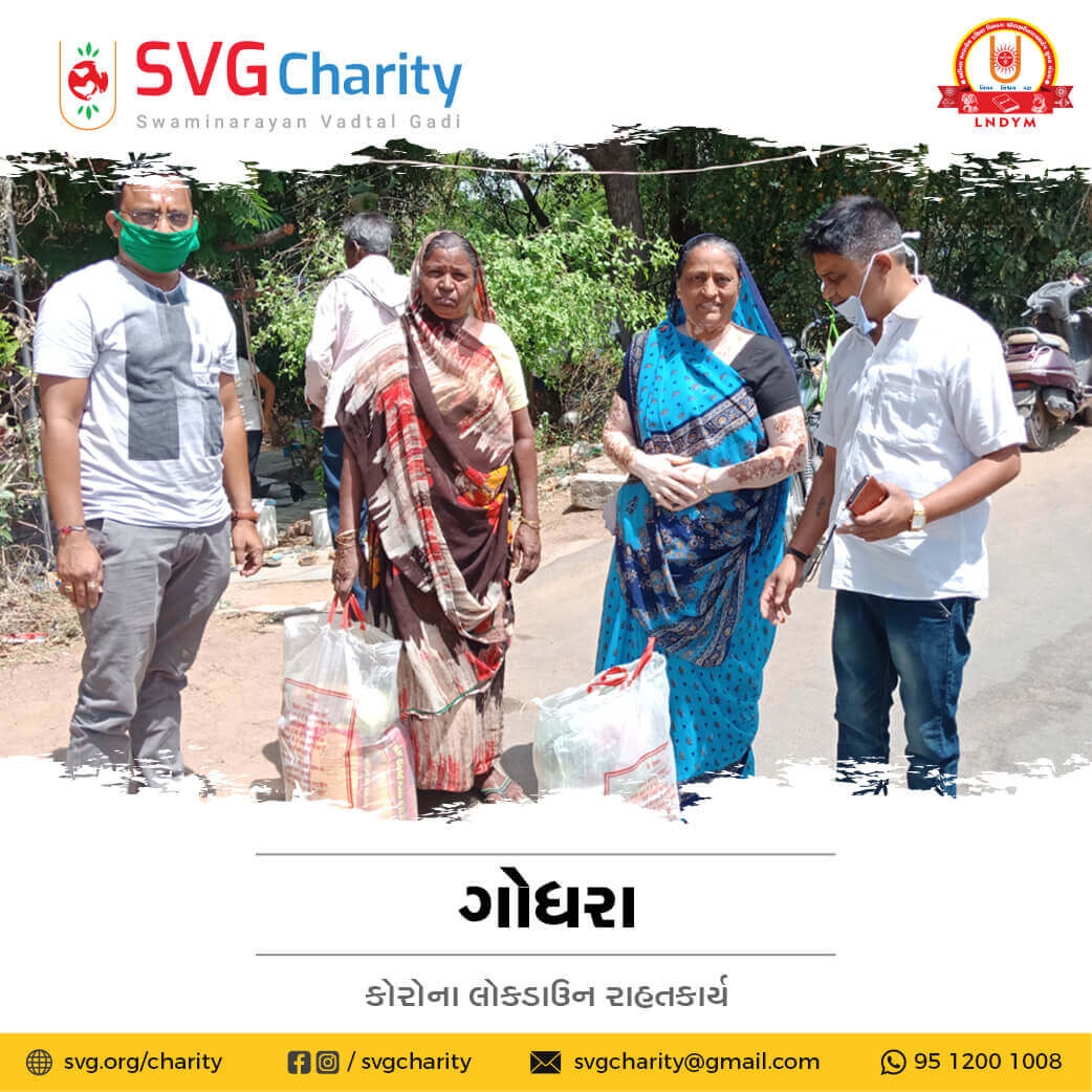 SVG Charity : Corona (COVID-19) Relief Work By Godhra