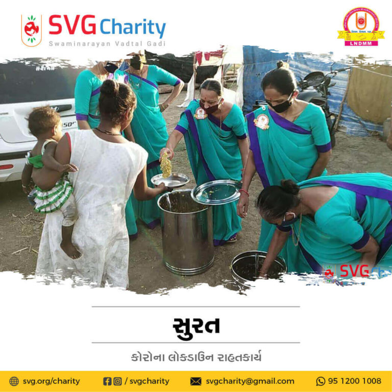 SVG Charity Corona COVID 19 Relief Work By LNDMM Surat