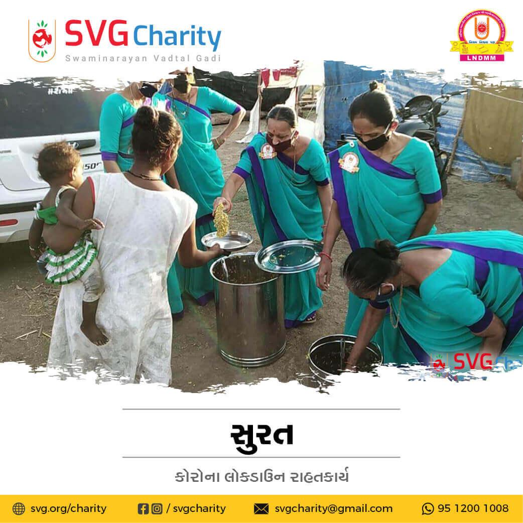 SVG Charity : Corona (COVID-19) Relief Work By LNDMM, Surat