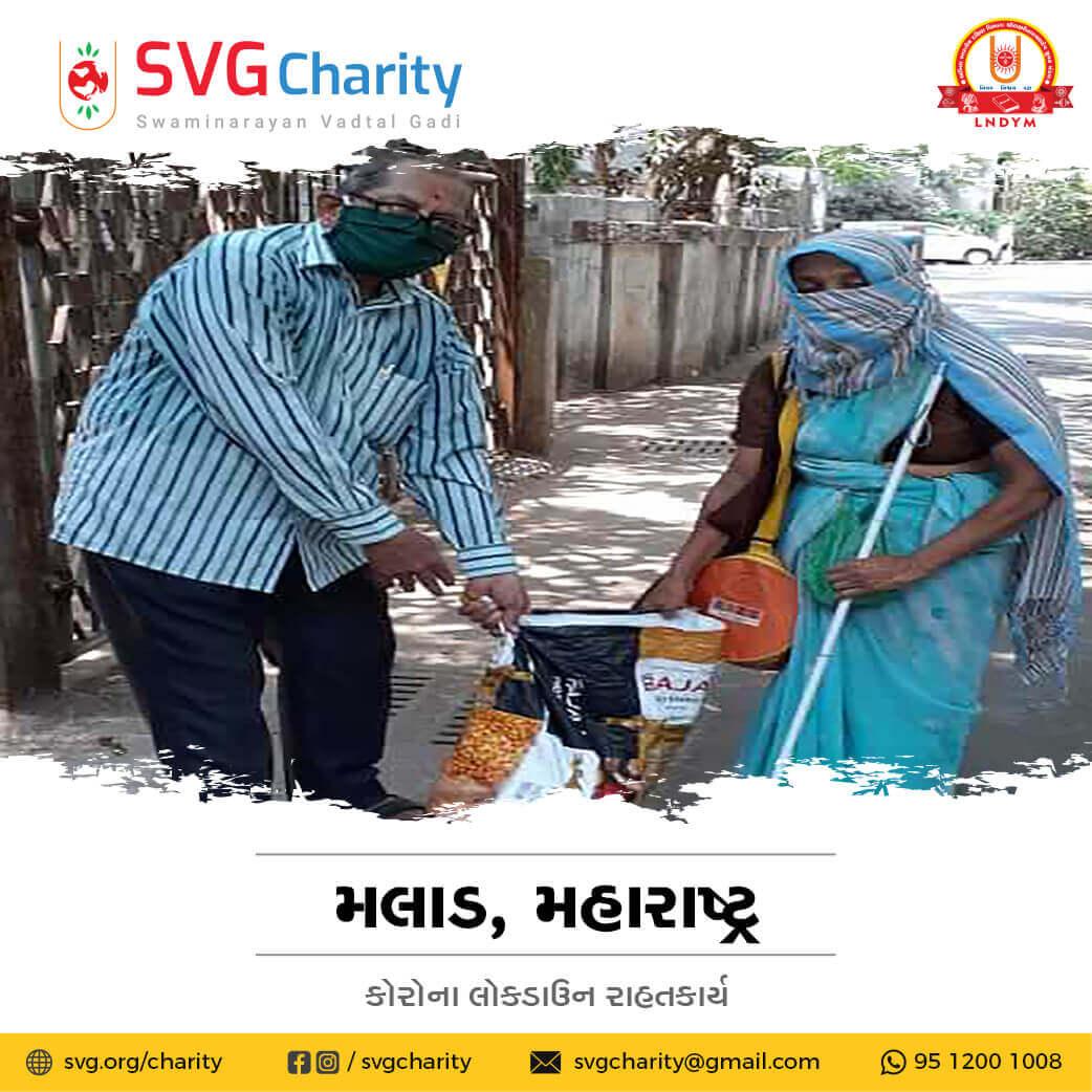 SVG Charity : Corona (COVID-19) Relief Work By Malad, Mumbai