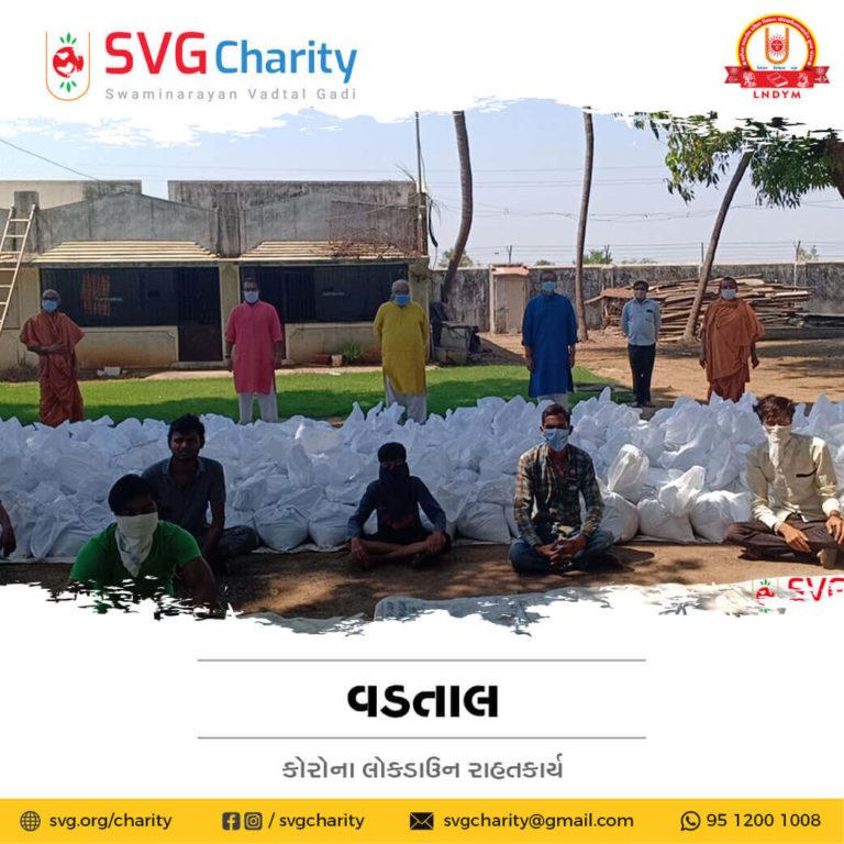 SVG Charity Corona COVID 19 Relief Work By Raghuvir Vadi Vadtal