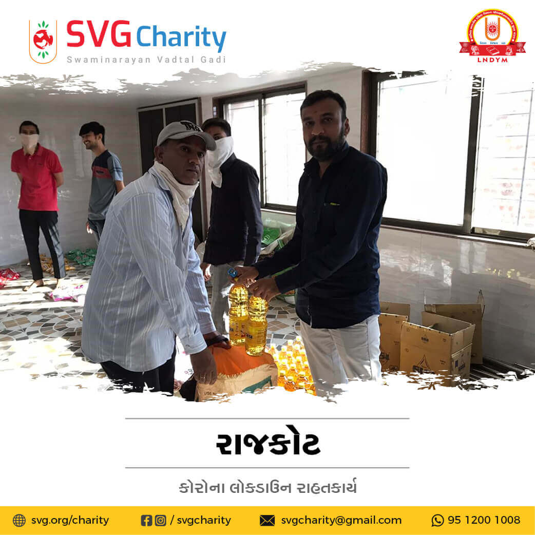 SVG Charity : Corona (COVID-19) Relief Work By Rajkot