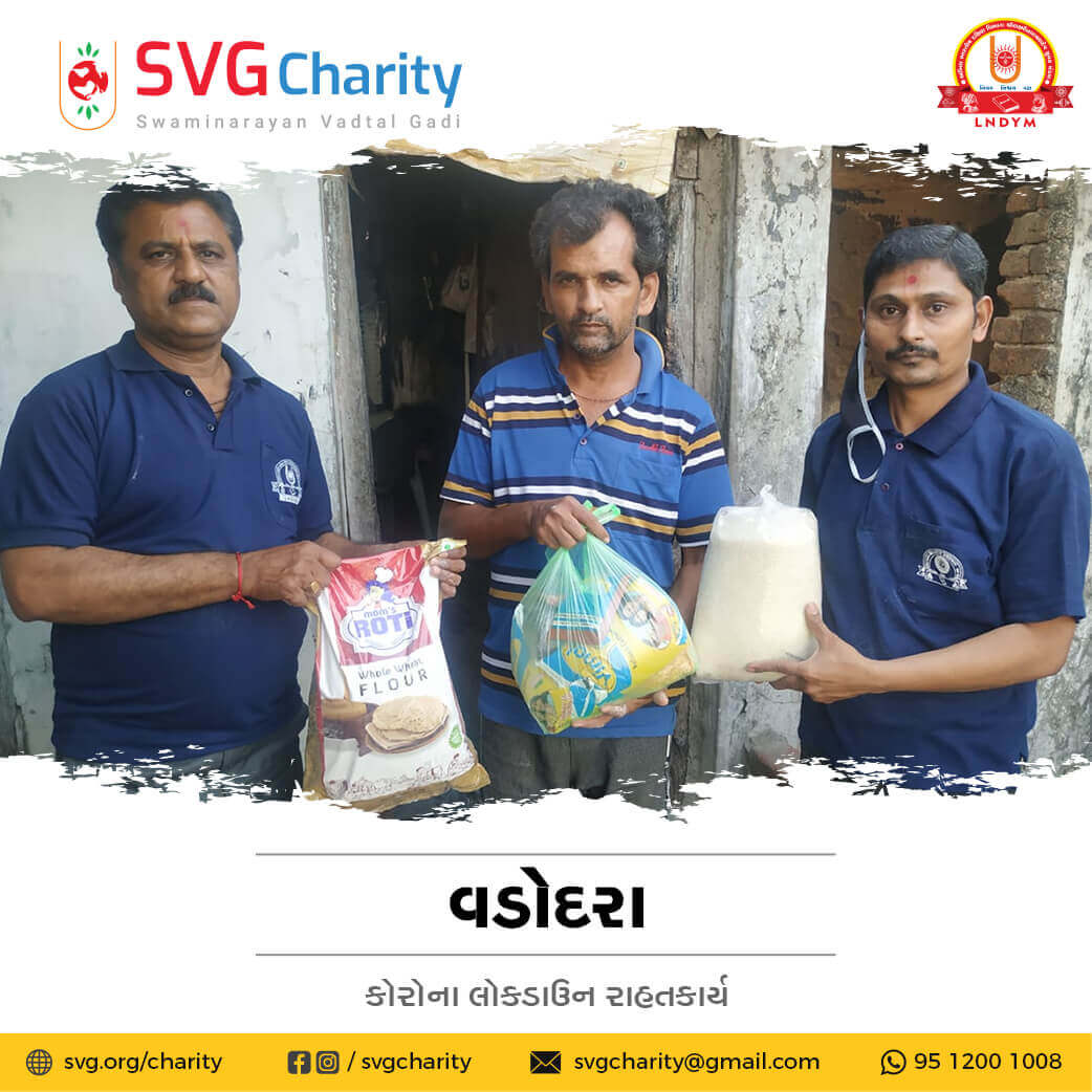 SVG Charity : Corona (COVID-19) Relief Work By Vadodara