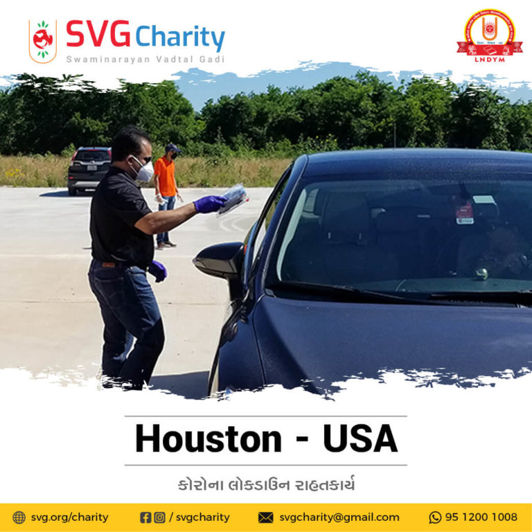 SVG Charity Corona COVID 19 PPE Kit Drive Thru 1 By Vadtal Dham HoustonTX USA 1 1