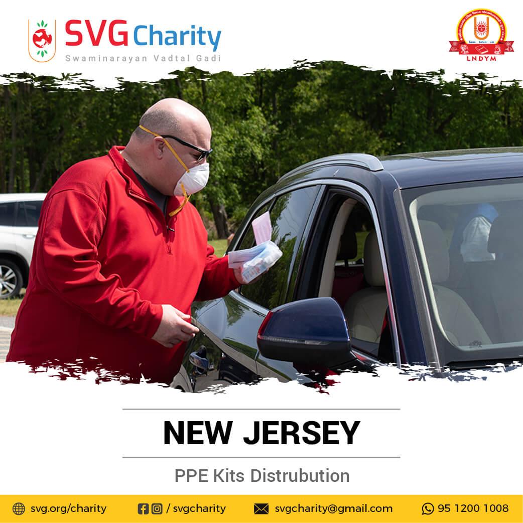 SVG Charity : Corona (COVID-19) PPE Kit Drive Thru By New Jersey, USA