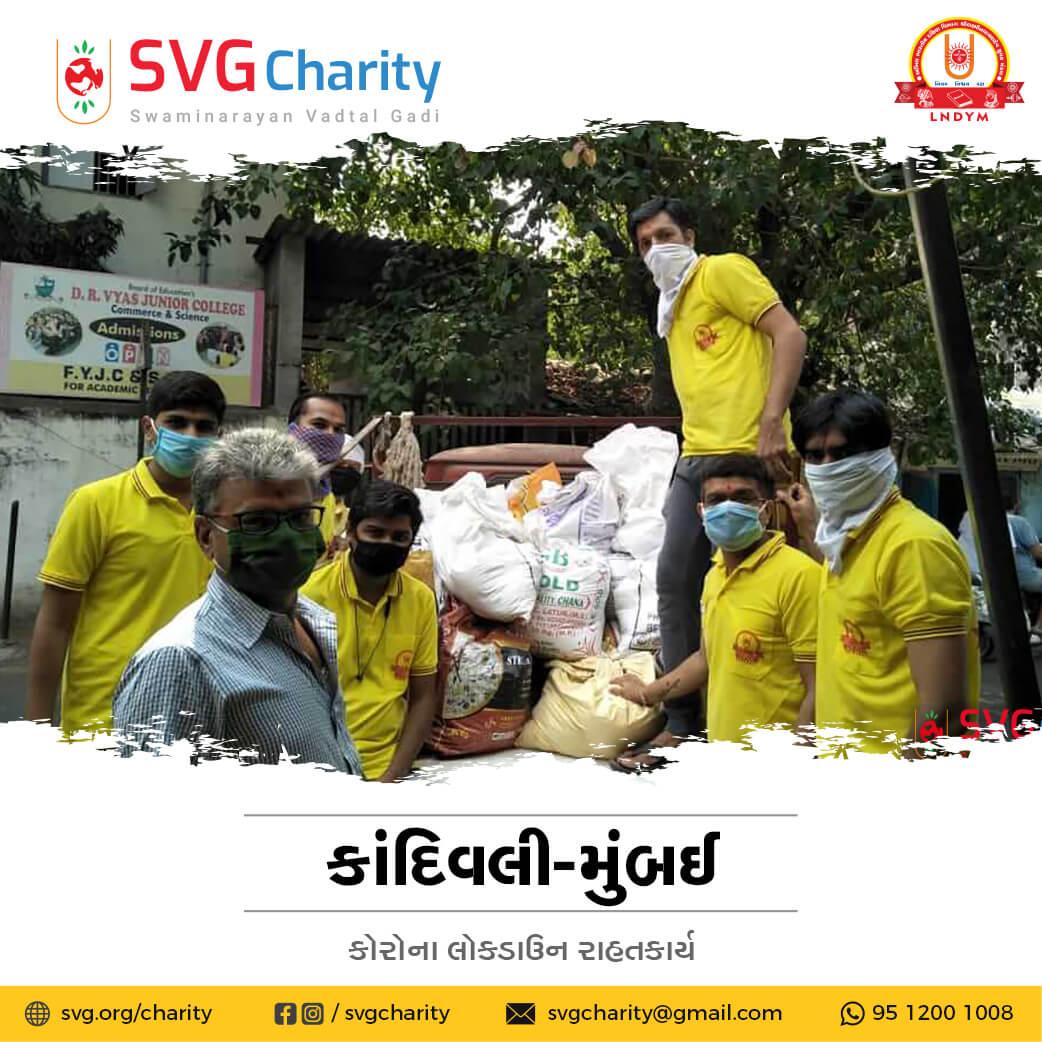 SVG Charity : Corona (COVID-19) Relief Work By Kandivali, Mumbai