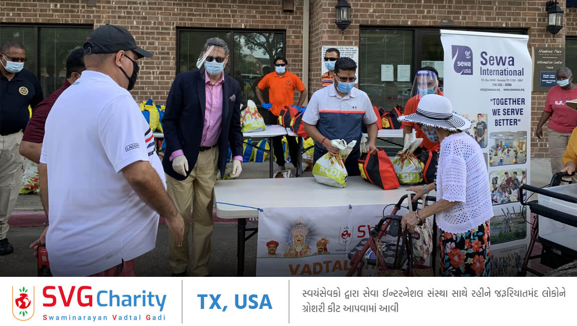 SVG Charity  Food Drive - 2 By Vadtal Dham Houston, USA  2020