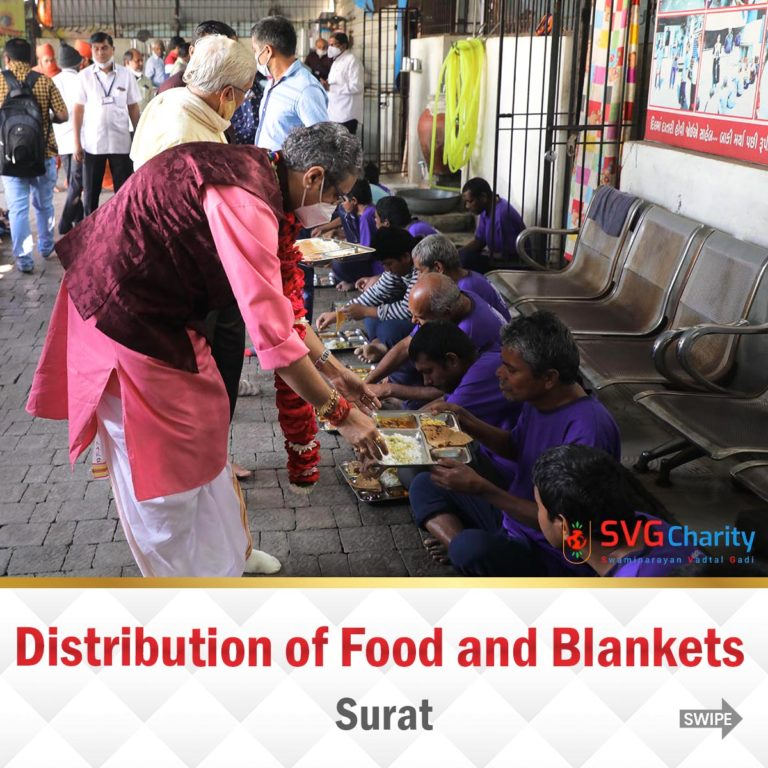 Distribution of Food and Blankets