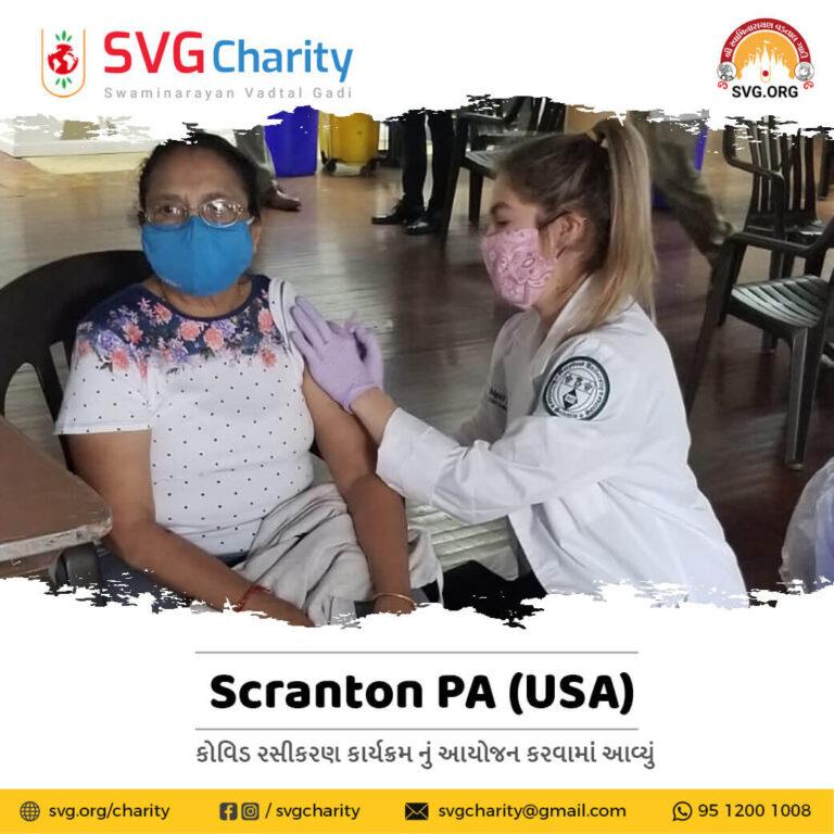 Covid Vaccines Program Shree Swaminarayan Hindu Temple Scranton PA USA 1