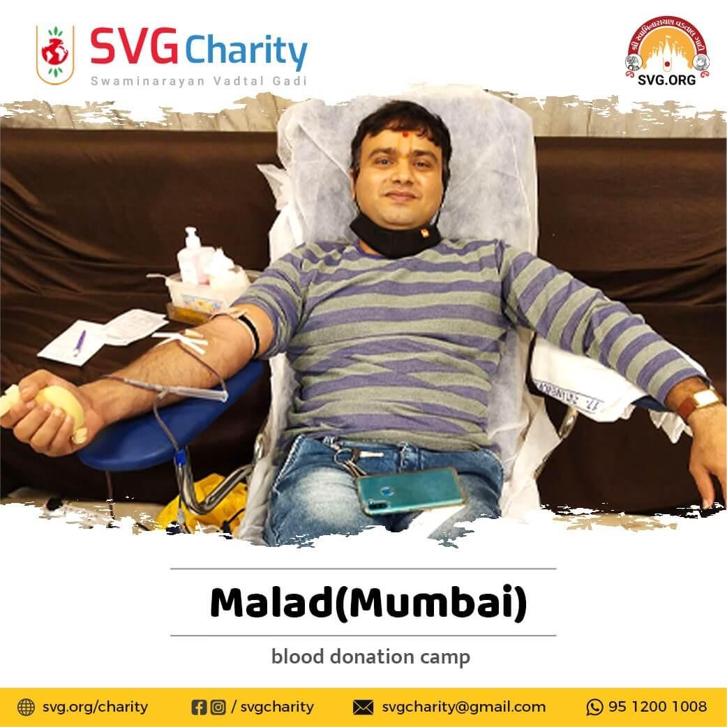 SVG Charity : Blood Donation Camp by LNDYM – Malad, Mumbai | 09 May 2021