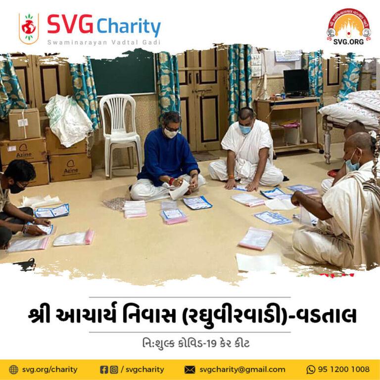 SVG Charity Distributing Free COVID care Kits By Raghuvir Vadi Vadtal May 2021 1