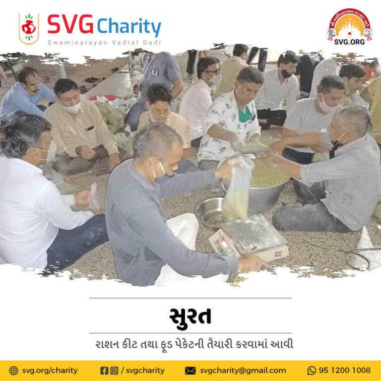 SVG Charity Emergency Food Kit Distribution During Cyclone Tauktae by Shreeji Mandir Surat 21 May 2021 1