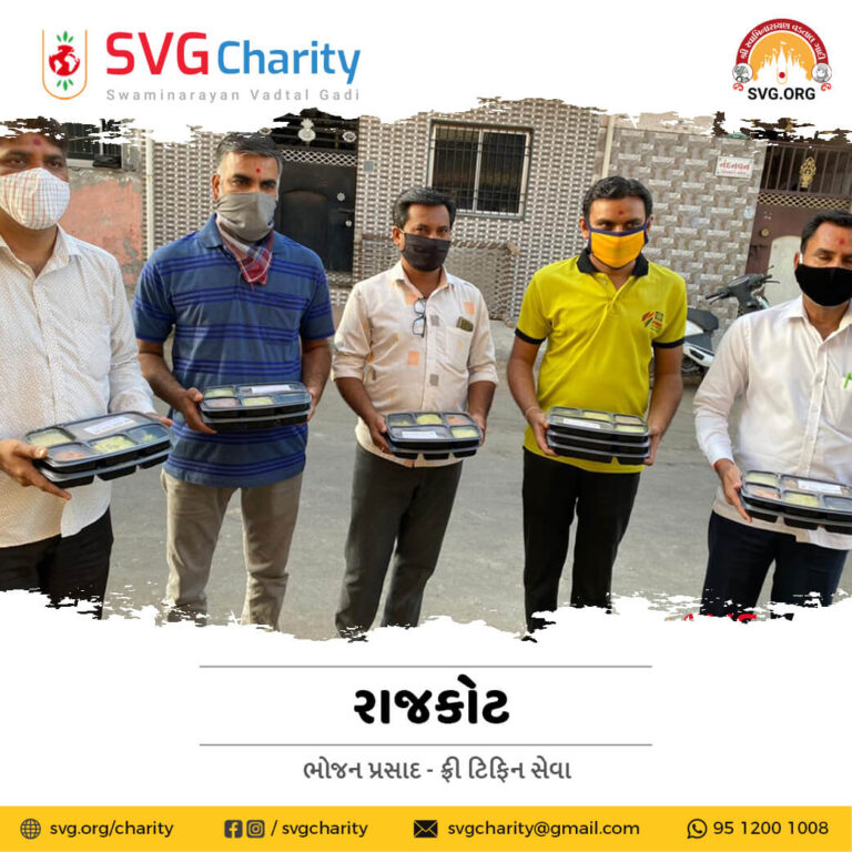 SVG Charity Food DonationTiffin Seva for Covid 19 Patient Home Quarantined Families in Rajkot April 2021 5