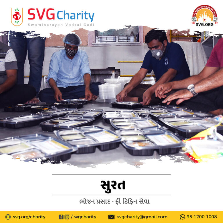 SVG Charity Food DonationTiffin Seva for Covid 19 Patient Home Quarantined Families in Surat April 2021 1