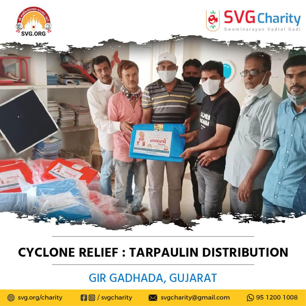 SVG Charity : Tarpaulin Distribution | Tauktae Cyclone Relief Work | 26 May 2021
