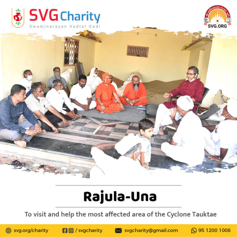 SVG Charity To visit and help the most affected area of Gujarat in the Cyclone Tauktae 22 May 2021