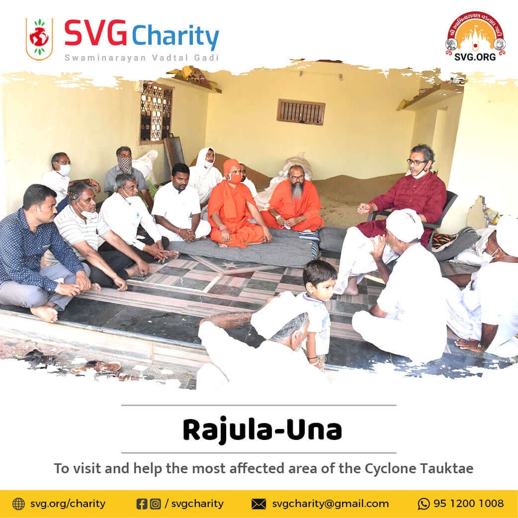 SVG Charity : To visit and help the most affected area of Gujarat in the Cyclone Tauktae | 22 May 2021