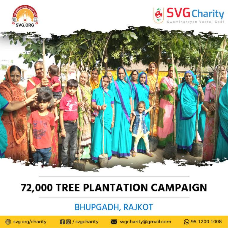 72000 tree plantation By LNDMM Bhupgadh 2021