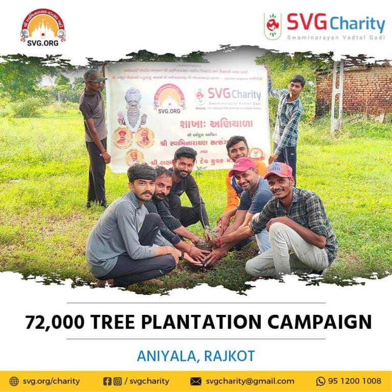 SVG Charity 72000 Tree Plantation Campaign – Aniyala Dist. Rajkot Sep 2021 1