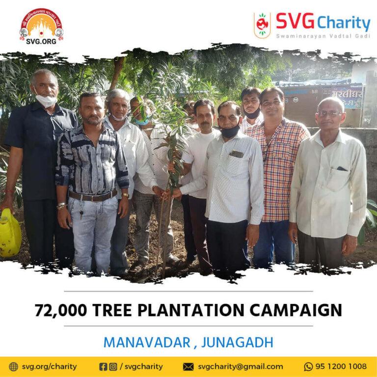 SVG Charity 72000 Tree Plantation Campaign – Manavadar Junagadh Aug 2021 7