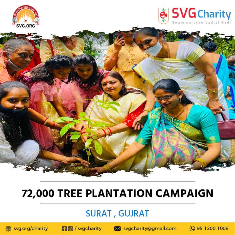 SVG Charity 72000 Tree Plantation Campaign – Surat Aug 2021