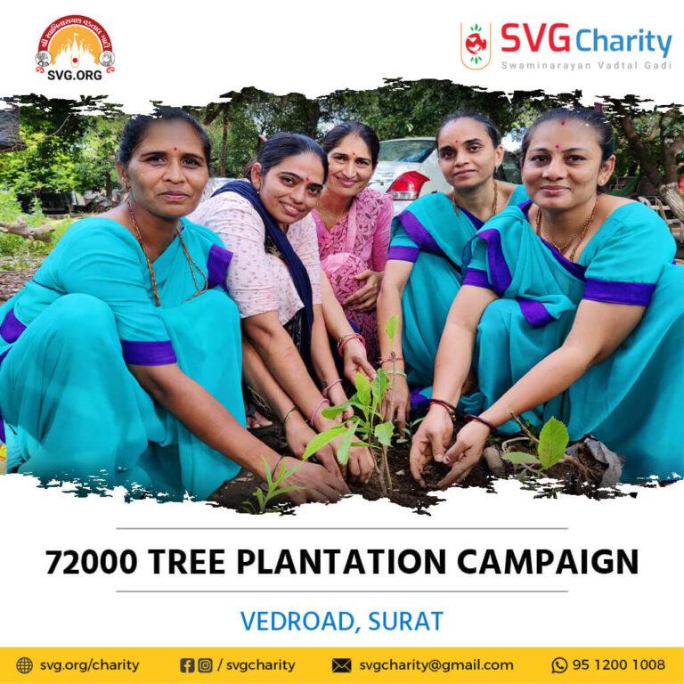 SVG Charity 72000 Tree Plantation Campaign – VedRoad Surat Aug 2021 17