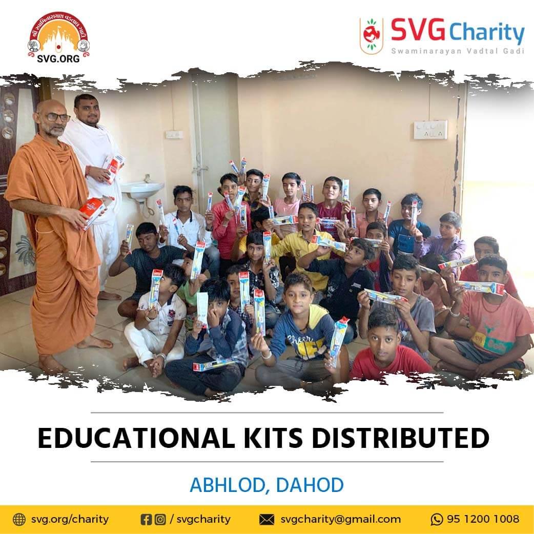 SVG Charity :- Distributed Free Educational Kits – Abhlod, Dahod, Gujarat | Sep 2021