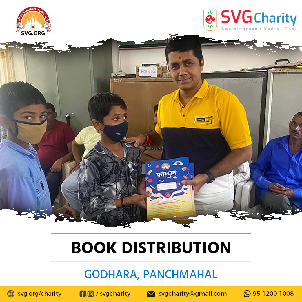 SVG Charity :- Distributed Free Notebooks – Godhra, Gujarat | Sep 2021