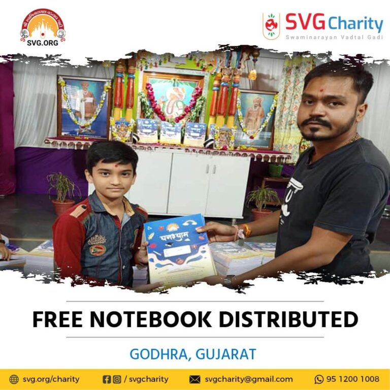 SVG Charity Distributed Free Notebooks – Godhra Gujarat Sep 2021 51