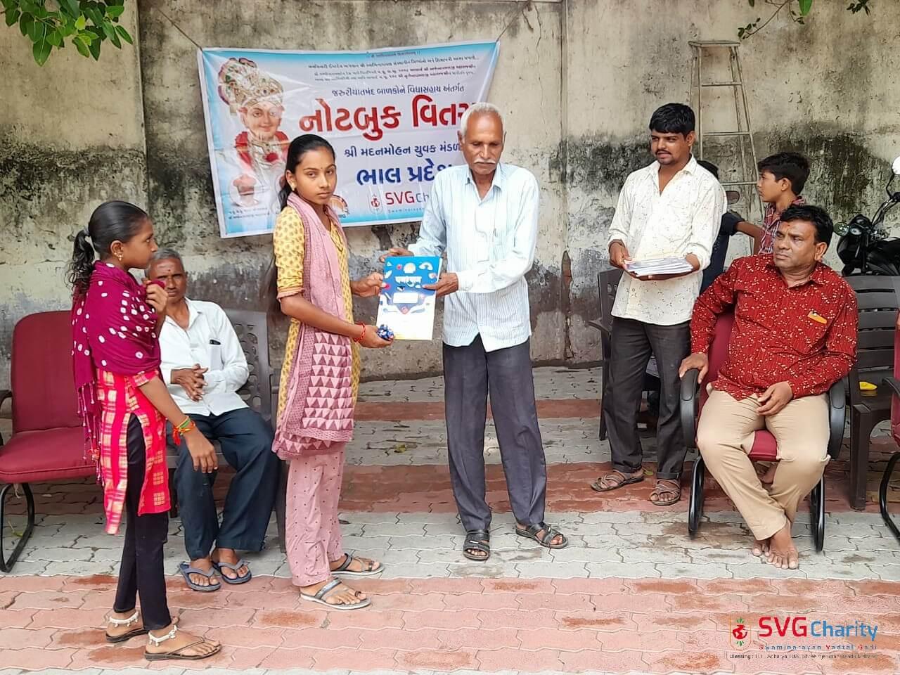 SVG Charity Distributed Free Notebooks Village Kotda Ta. Dhandhuka Bhal Pradesh Gujarat Sep 2021 10