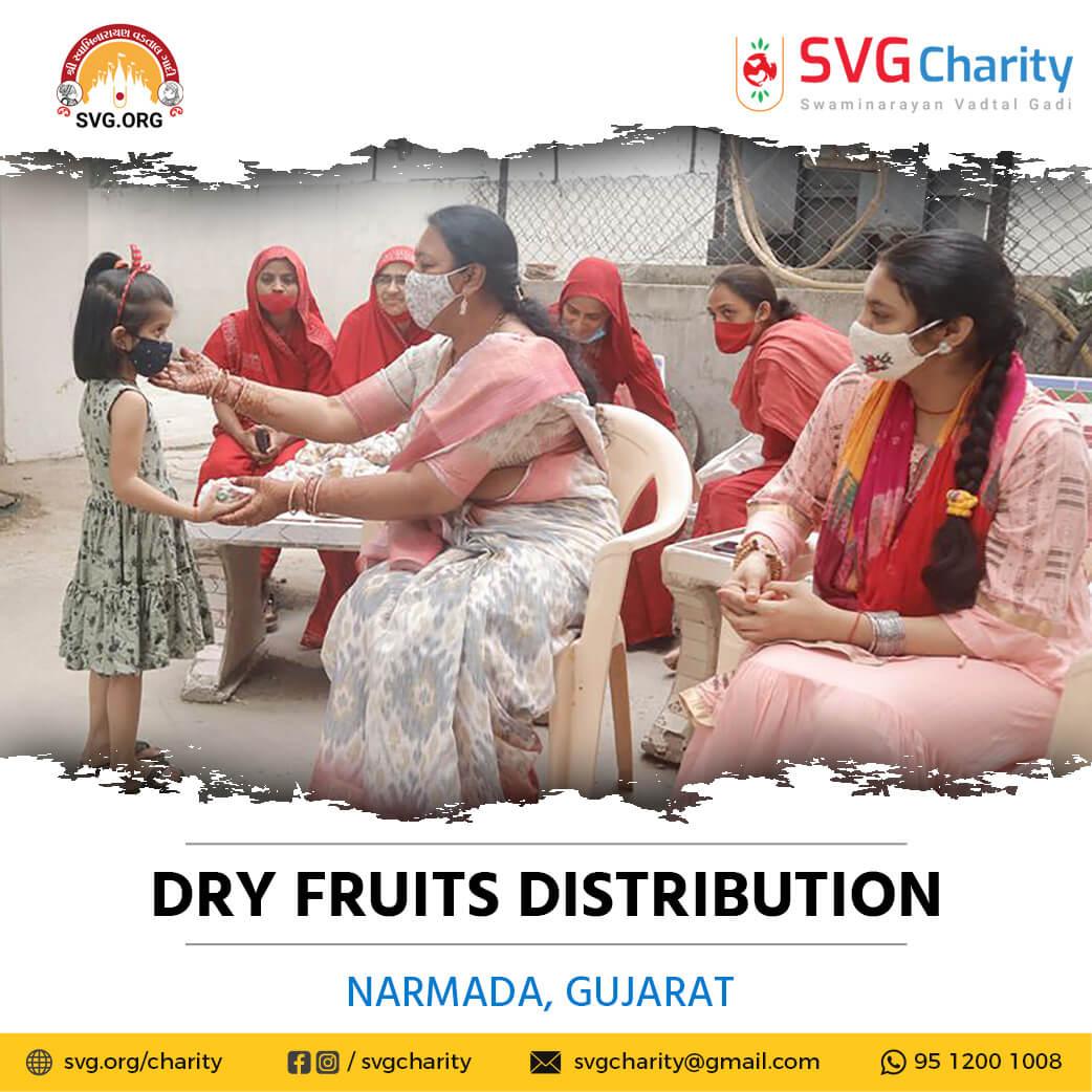 SVG Charity : Dry Fruits Kits Distribution – Narmda   July 2021