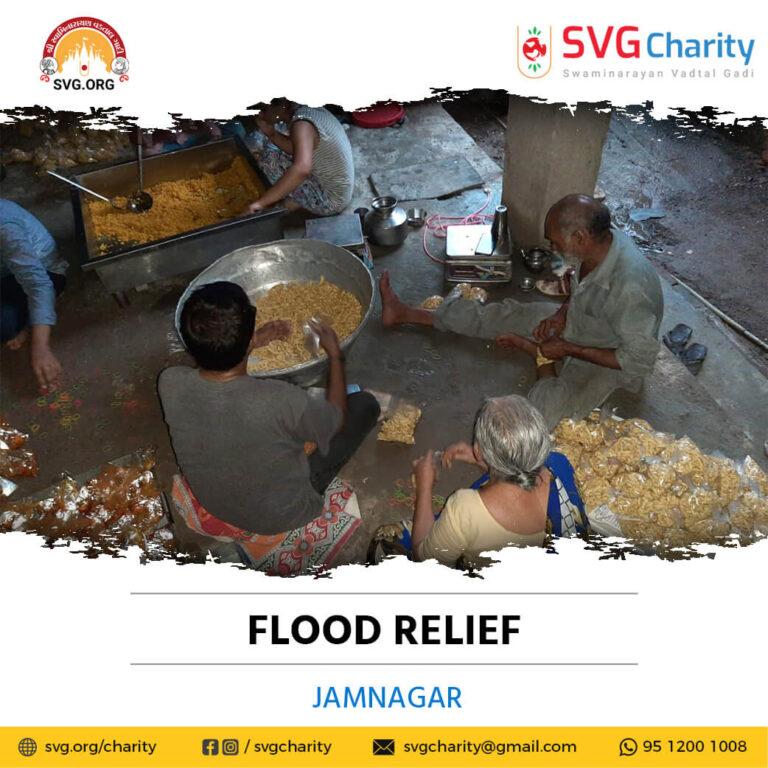 SVG Charity Flood Relief Work - Jamnagar, Gujarat Sep 2021