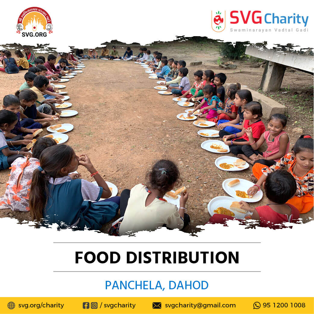 SVG Charity :- Food Distribution – Panchela, Dohad, Gujarat | 28 Sep 2021