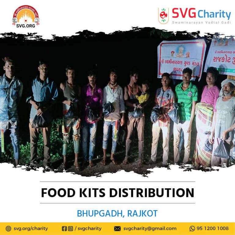 SVG Charity Food Distribution – Bhupgadh Rajkot Gujarat 15 Oct 2021 1