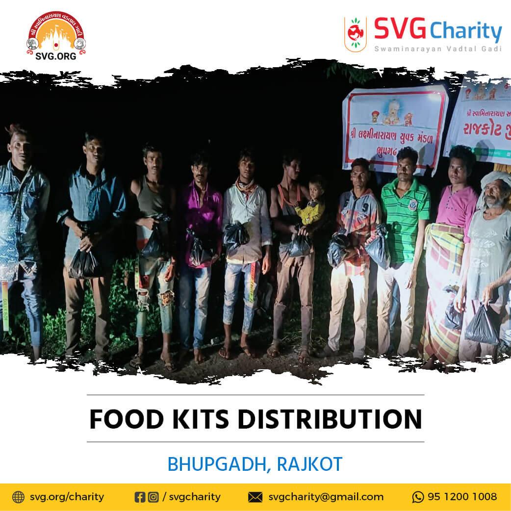 SVG Charity : Food Distribution – Bhupgadh, Rajkot, Gujarat   15 Oct 2021